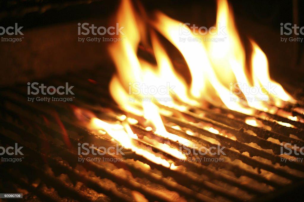 Open Flames stock photo