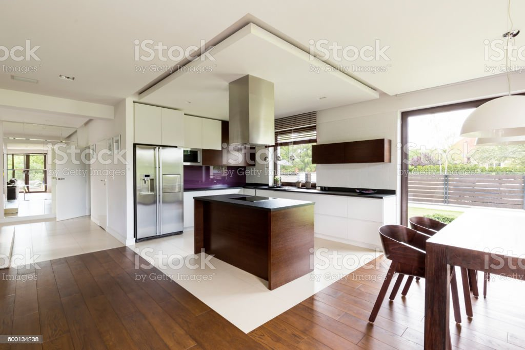 Open floor apartment idea stock photo