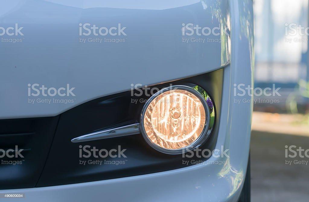 Open fog lamp car stock photo