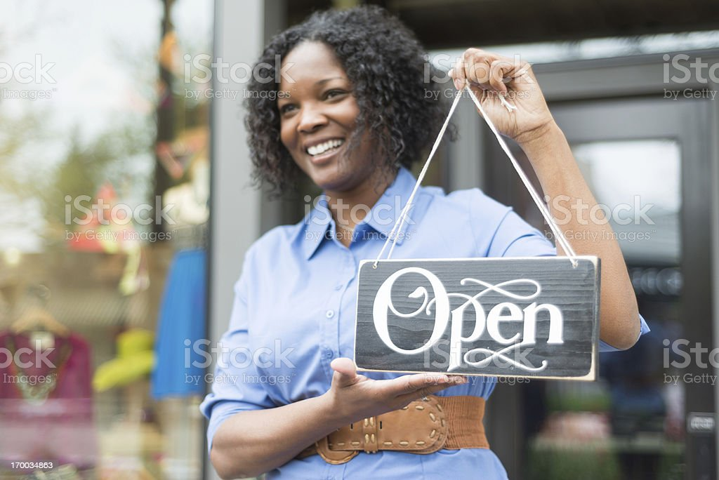 Open for Business royalty-free stock photo