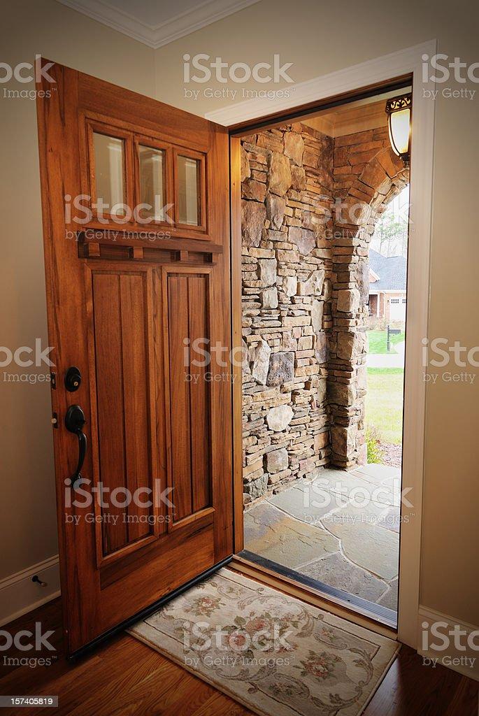 Open front door royalty-free stock photo