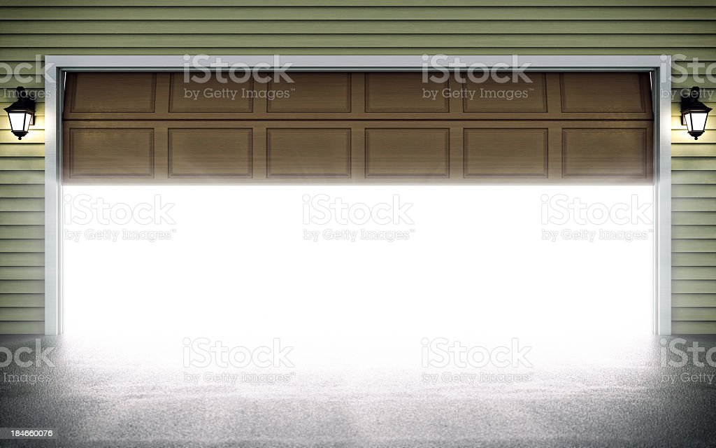 Open Garage Door stock photo