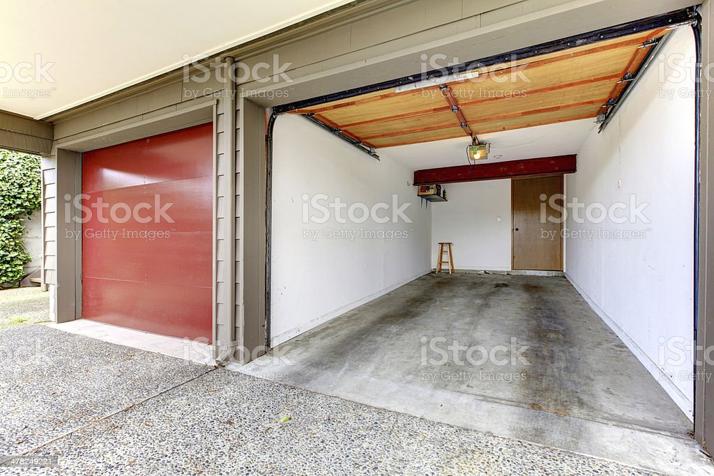 Open garage. stock photo