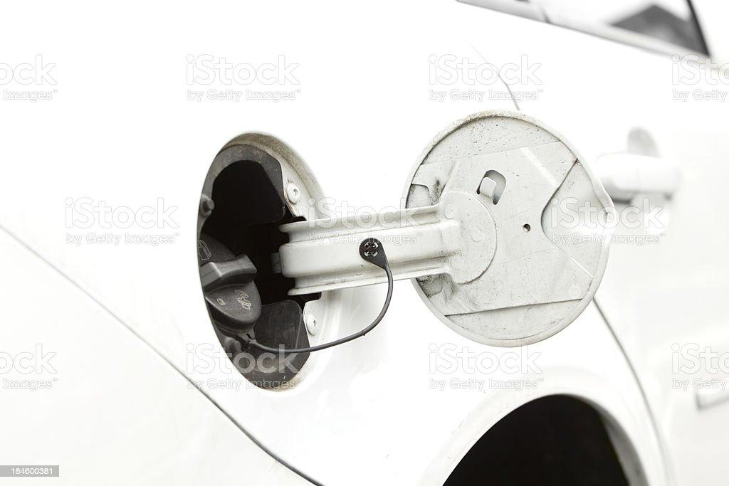 Open gas door royalty-free stock photo