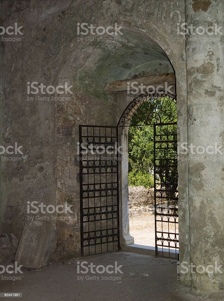 Open Gate royalty-free stock photo