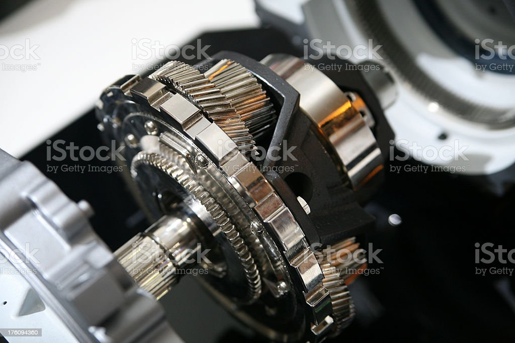 Open gearbox of car royalty-free stock photo