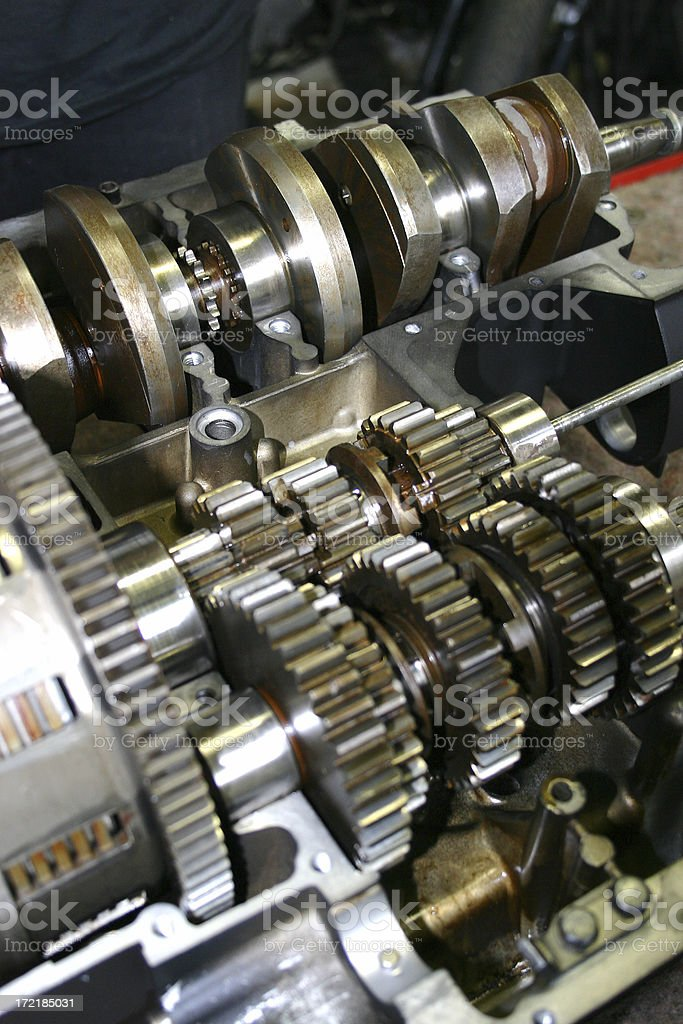 Open gearbox stock photo