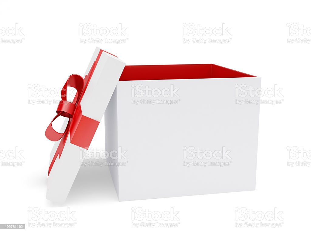 Open Gift Box stock photo