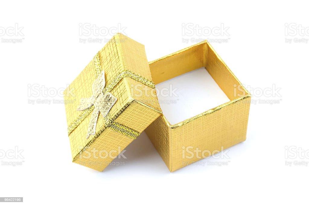 open golden gift box royalty-free stock photo