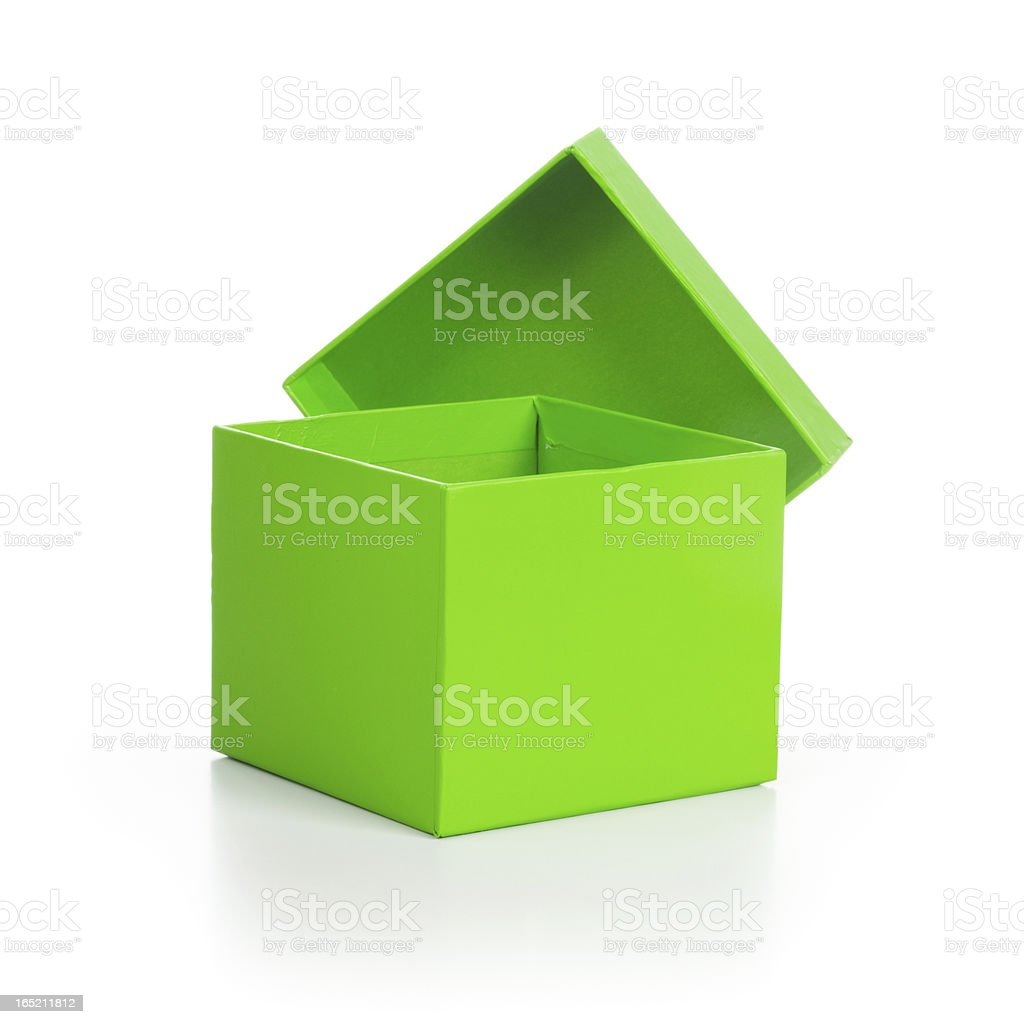 Open Green Box royalty-free stock photo
