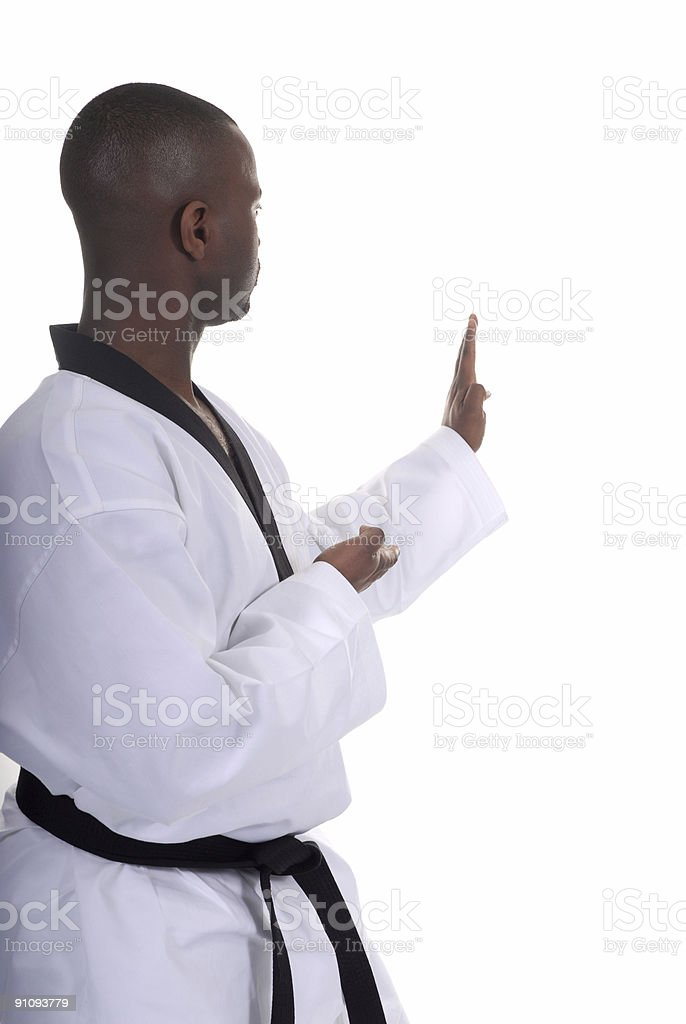Open hand defense royalty-free stock photo