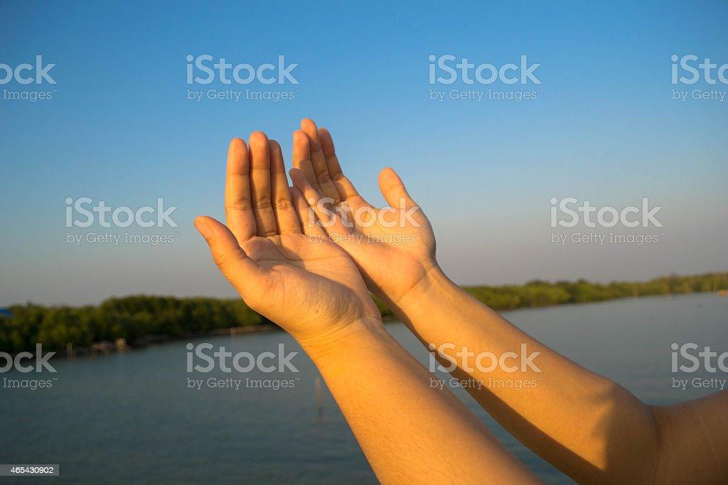 open hand stock photo