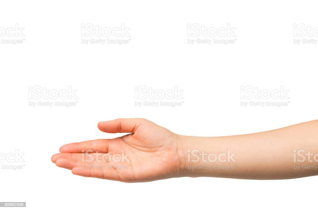 Open hand stock photo