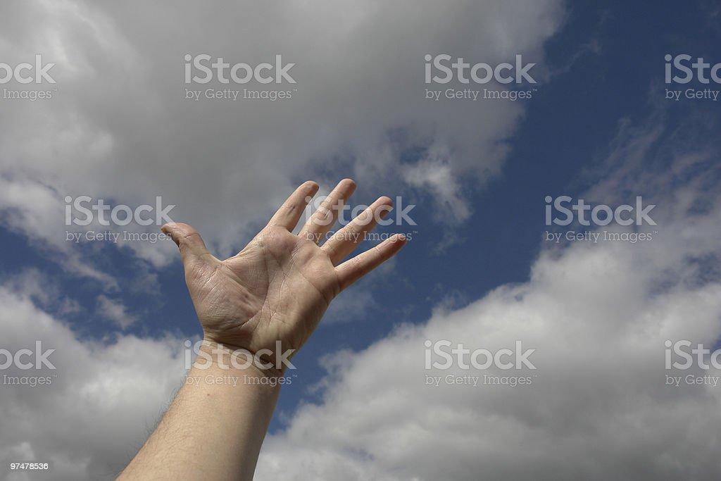 open hand royalty-free stock photo