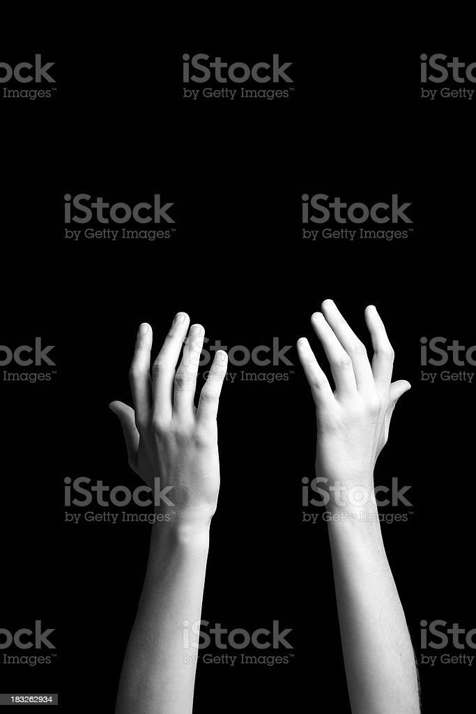 Open Hands - Asking royalty-free stock photo