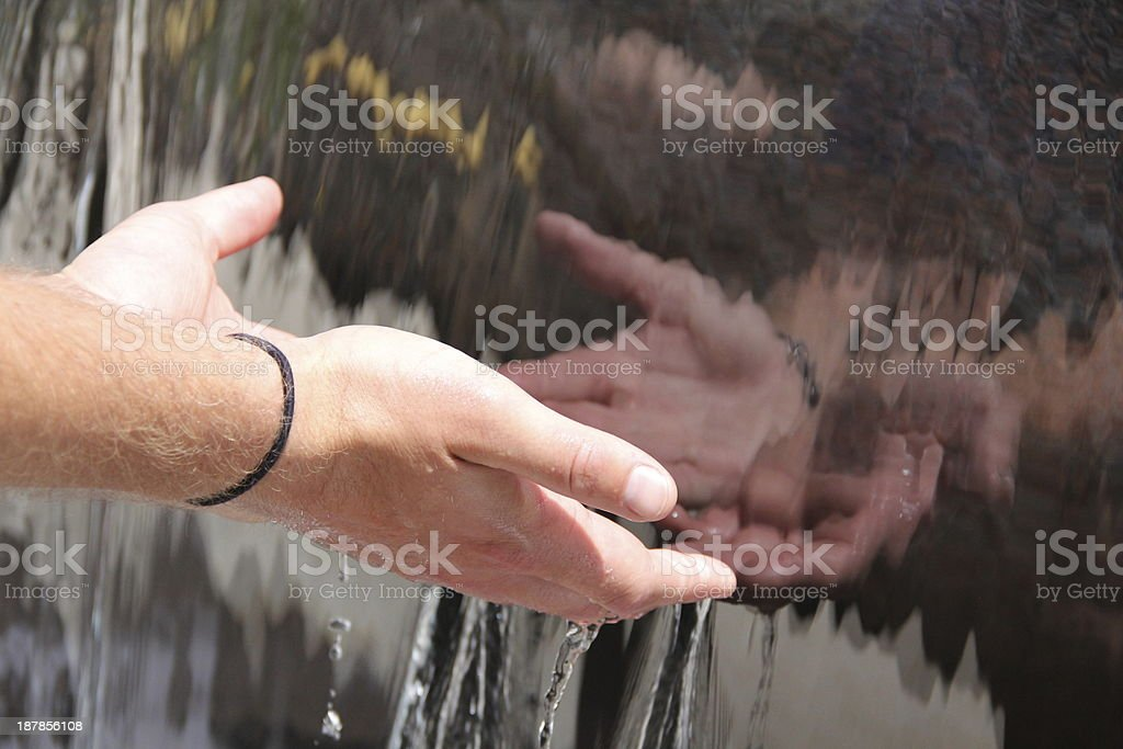 Open Hands Reflection stock photo