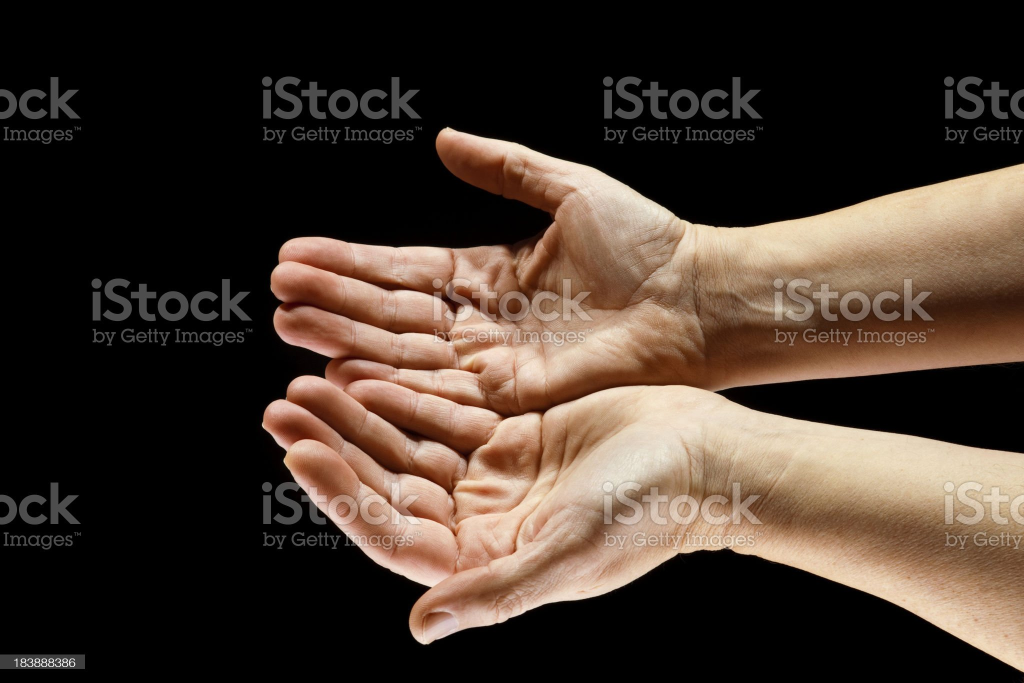Open Hands Waiting to Be Filled royalty-free stock photo
