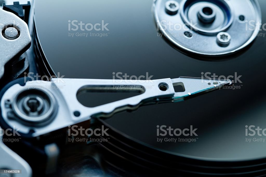 Open hard disk royalty-free stock photo