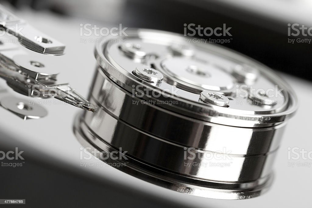 Open hard drive royalty-free stock photo