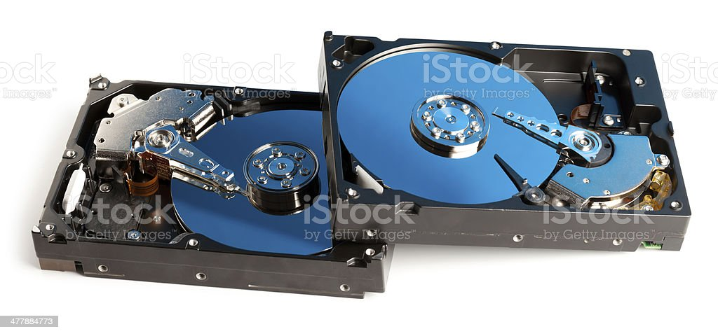 Open hard drives royalty-free stock photo
