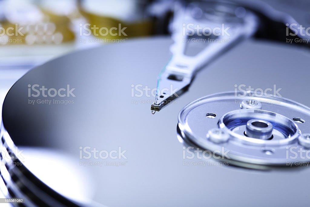 open harddisk stock photo
