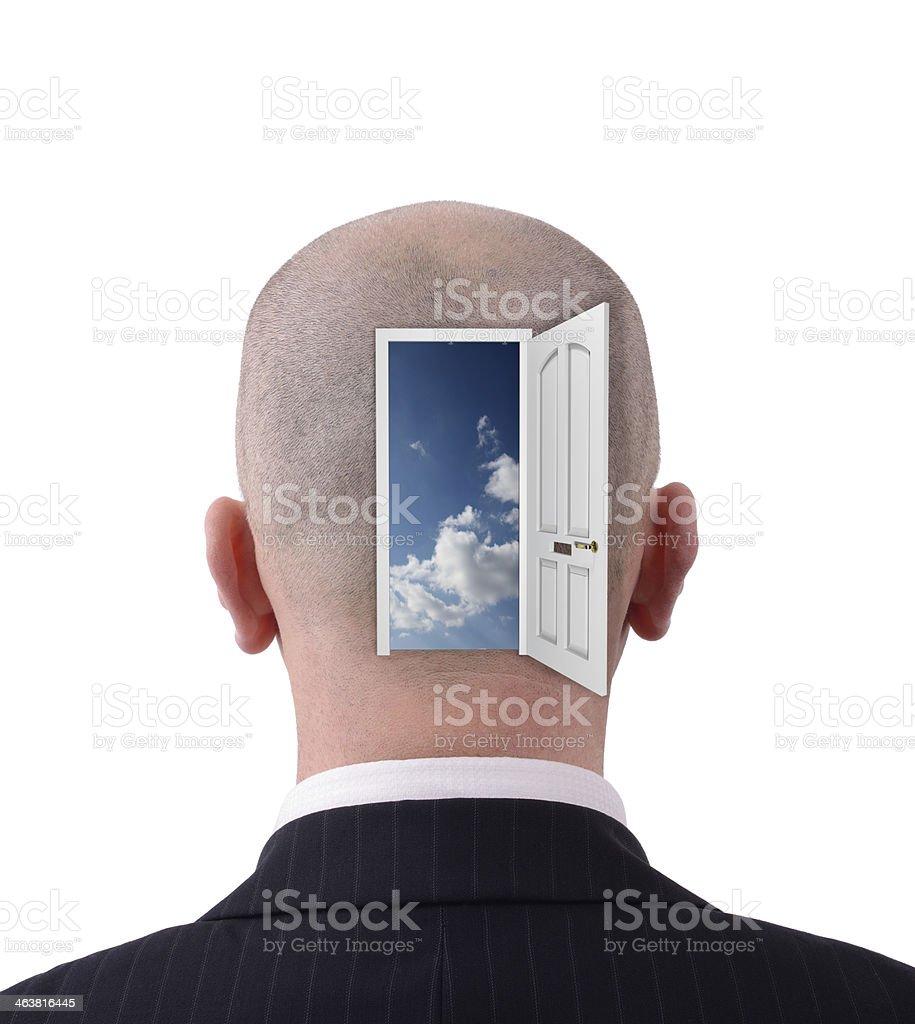 Open head stock photo