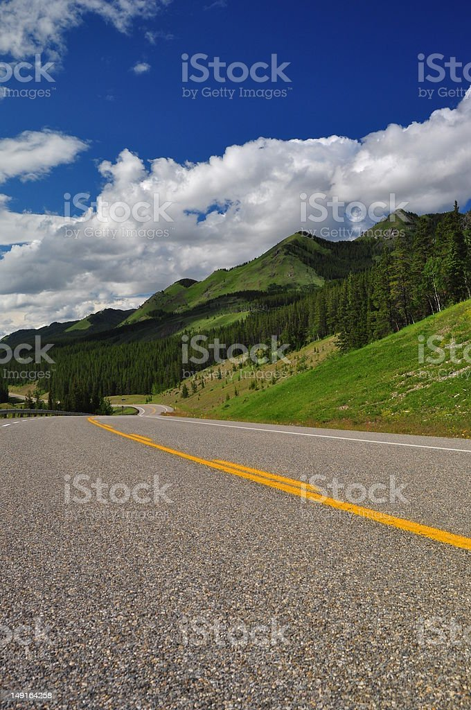 Open highway in summer stock photo