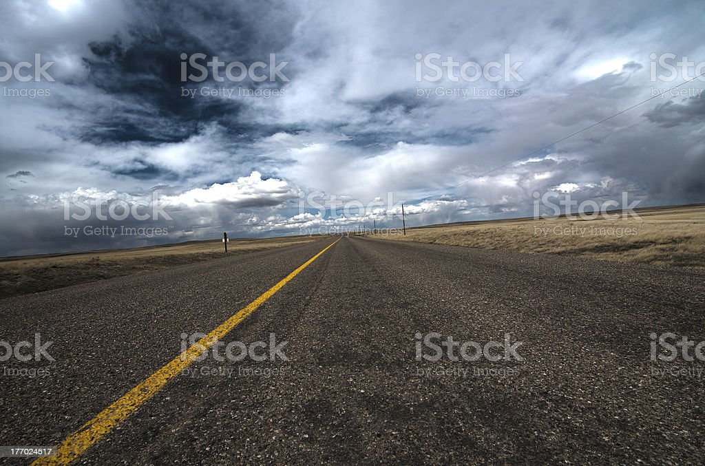 Open highway royalty-free stock photo