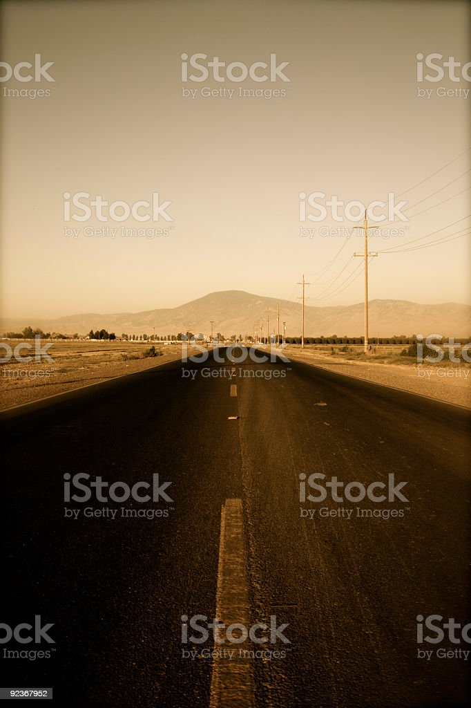 Open Highway Road royalty-free stock photo