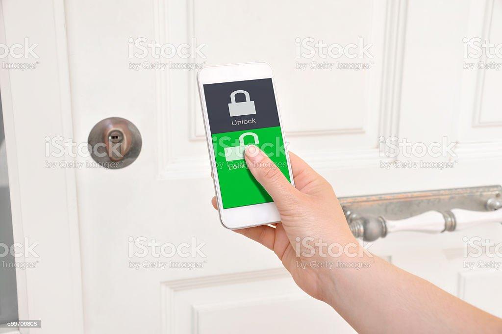 open home door stock photo