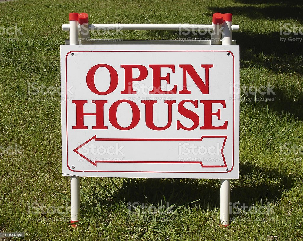 Open house California real estate sign royalty-free stock photo