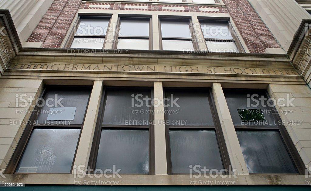 Open House of former Germantown High School, Philadelphia stock photo