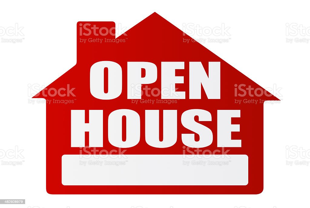 Open House Posting. Part of our Create a Sign Series. royalty-free stock photo