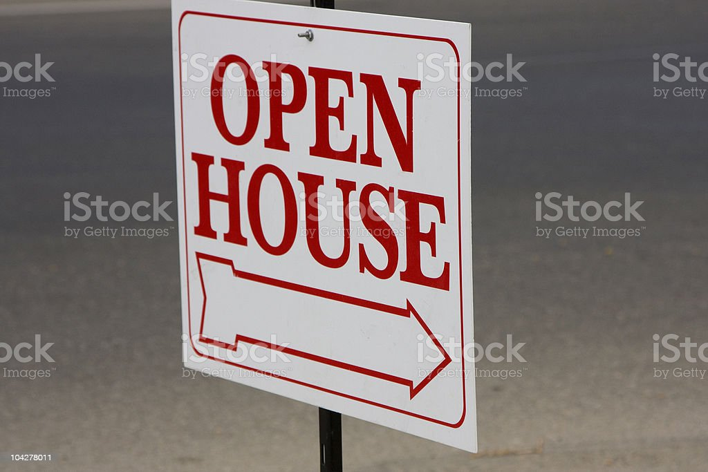 open house sign stock photo