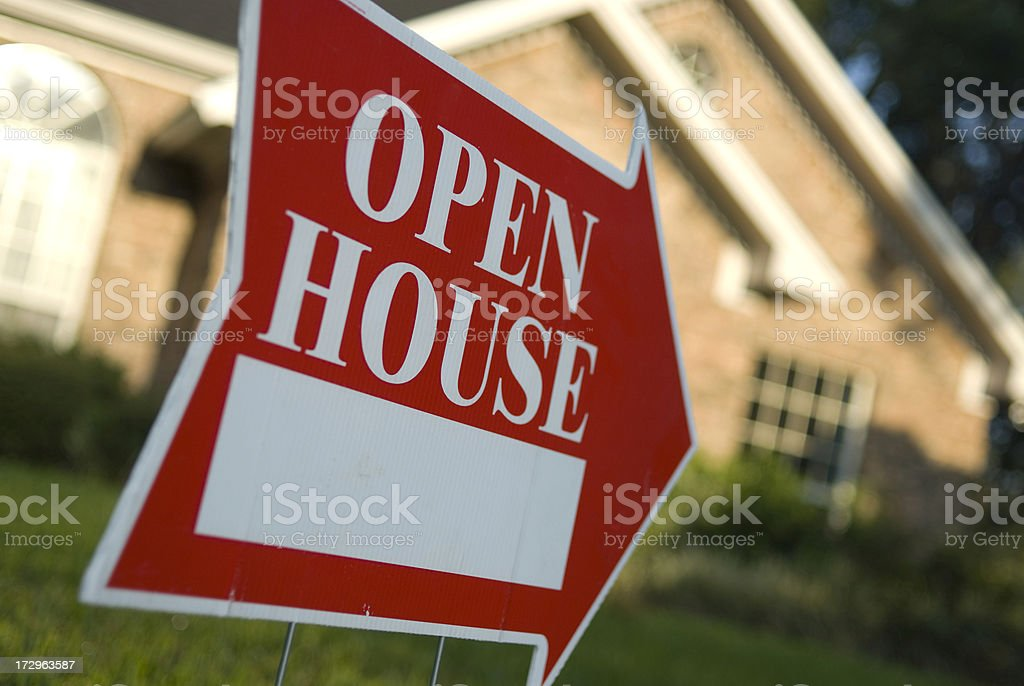 Open House Sign royalty-free stock photo