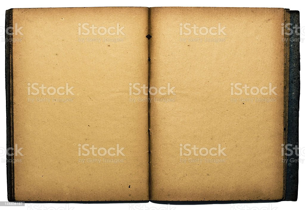 Open isolated book royalty-free stock photo