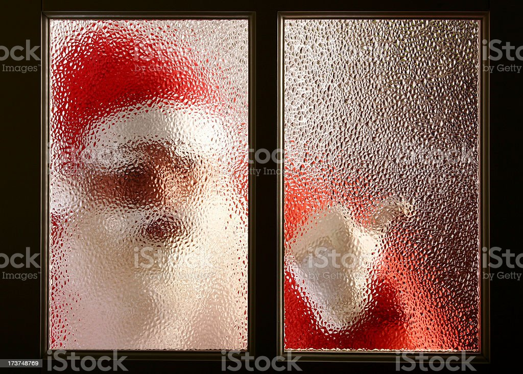Open, it's Santa! royalty-free stock photo