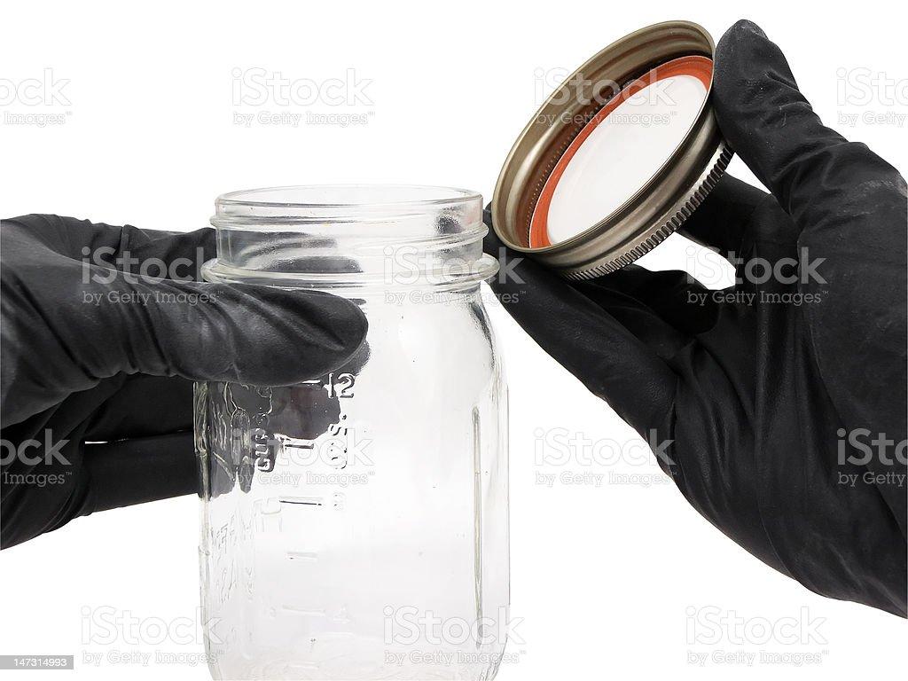 Open Jar stock photo