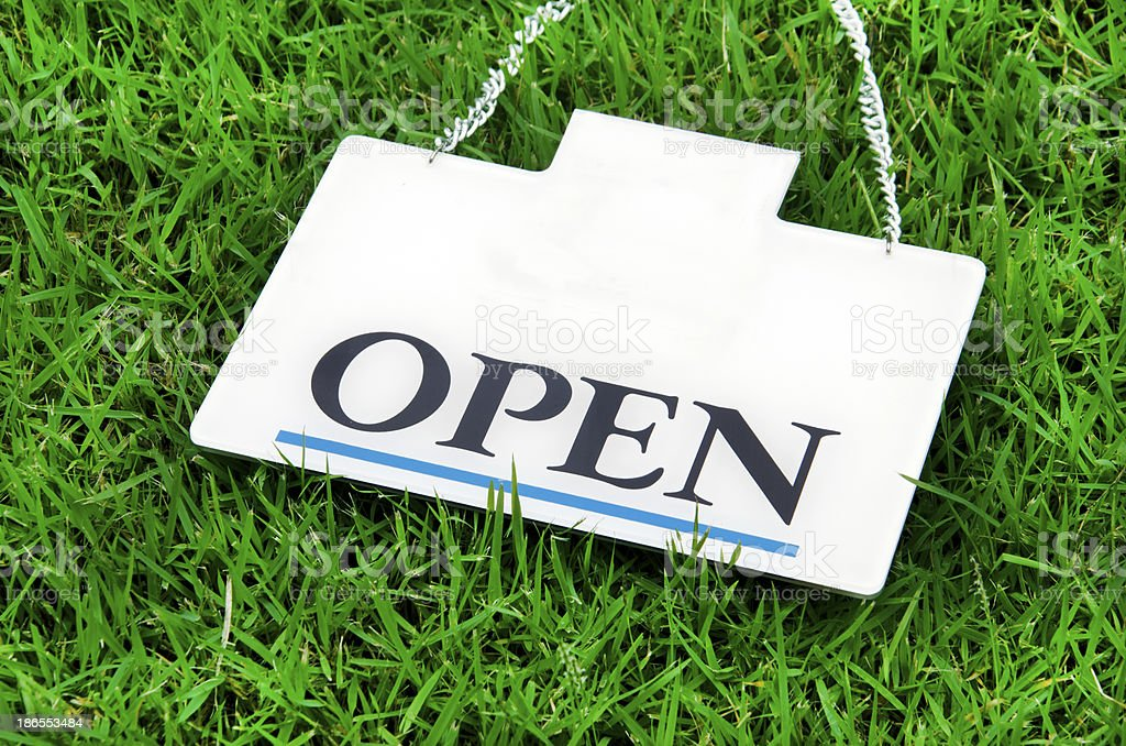 Open label. royalty-free stock photo