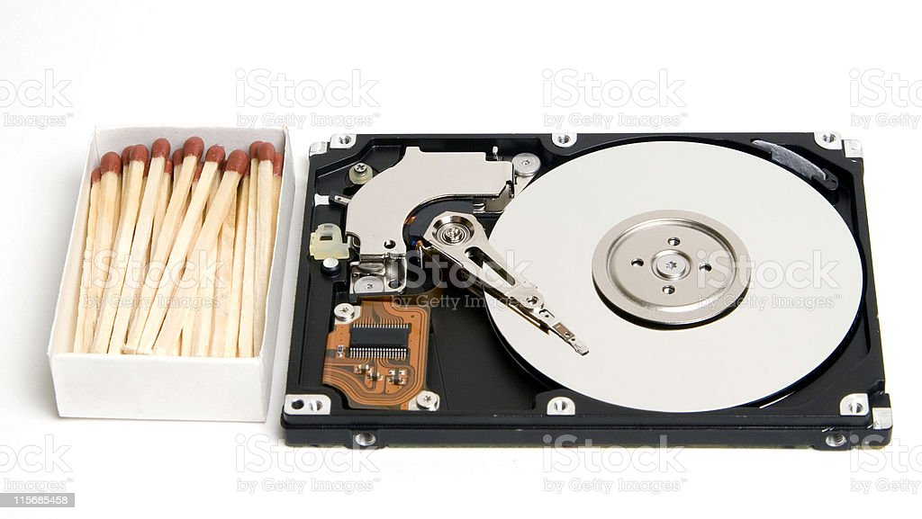 Open Laptop HDD Size royalty-free stock photo