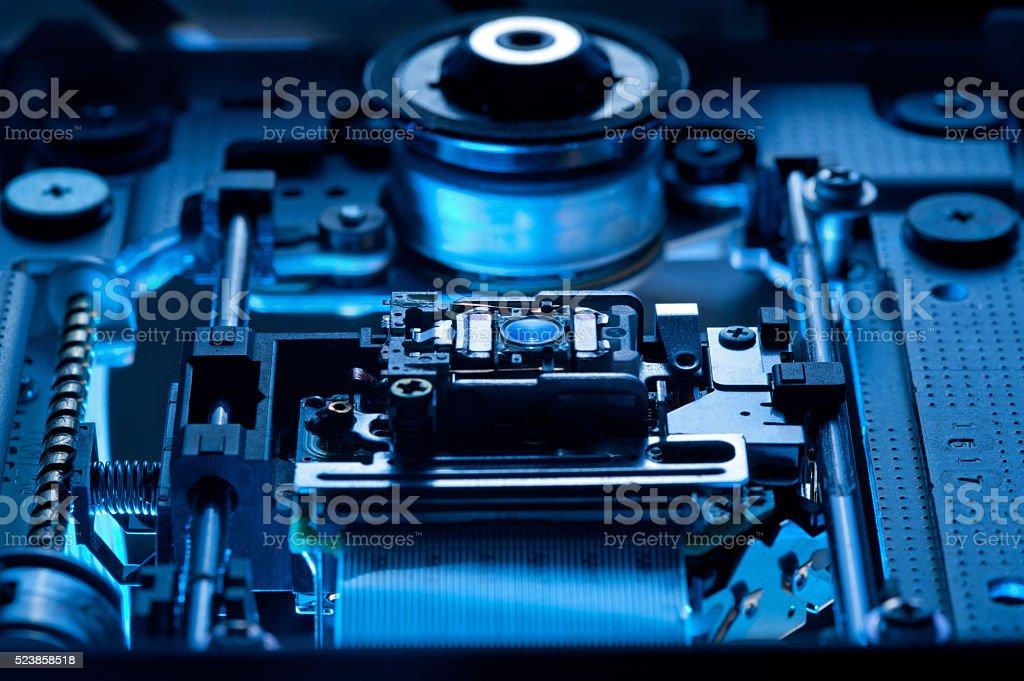 open leser cdrom closeup stock photo