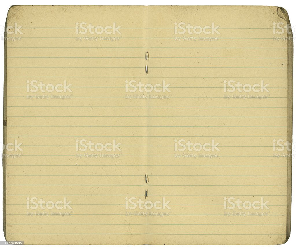 Open lined paper book royalty-free stock photo