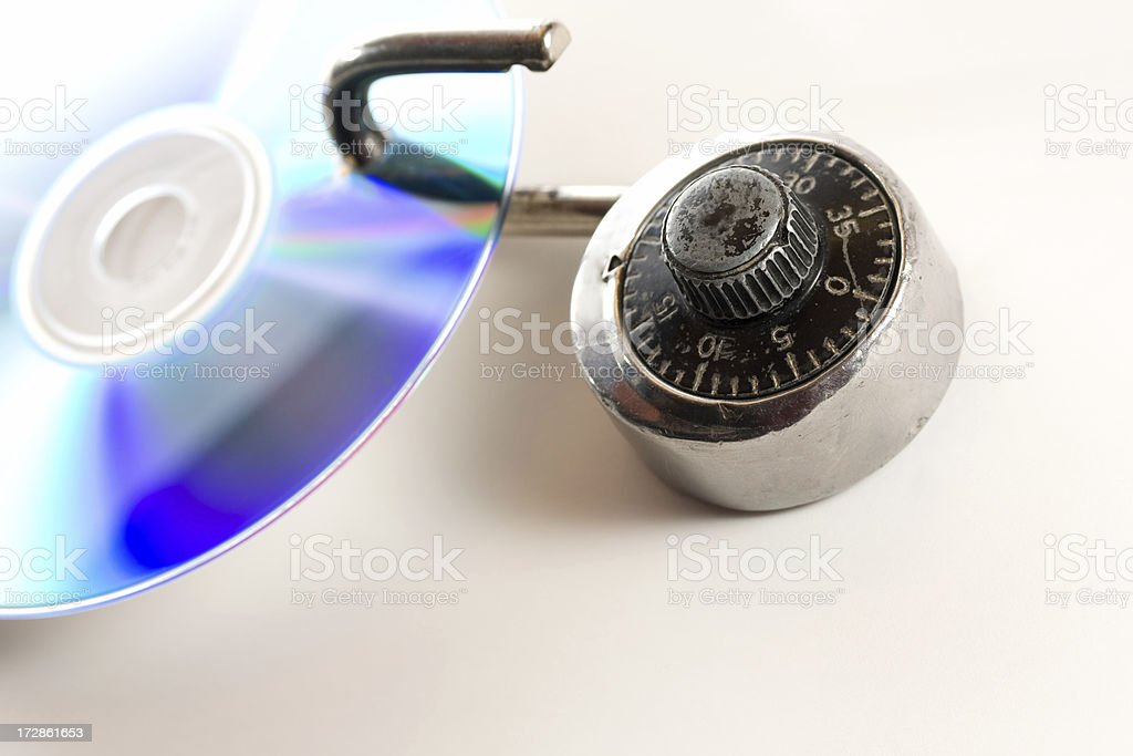 Open lock and data security issue royalty-free stock photo