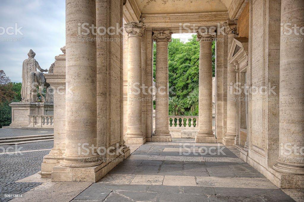 Open Loggia Palazzo Nuovo in Rome stock photo