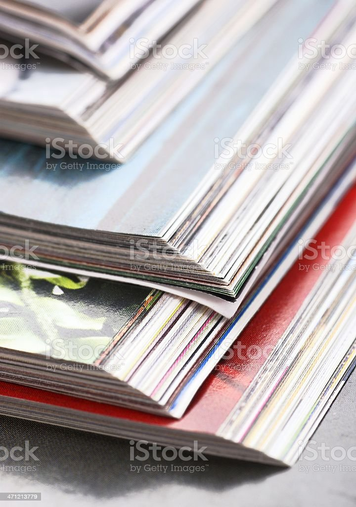 Open magazines close-up royalty-free stock photo