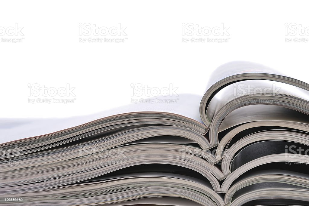 Open magazines royalty-free stock photo