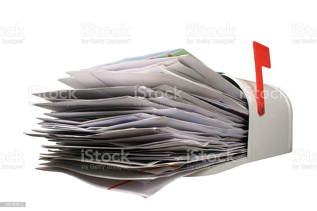 Open Mail Box. stock photo