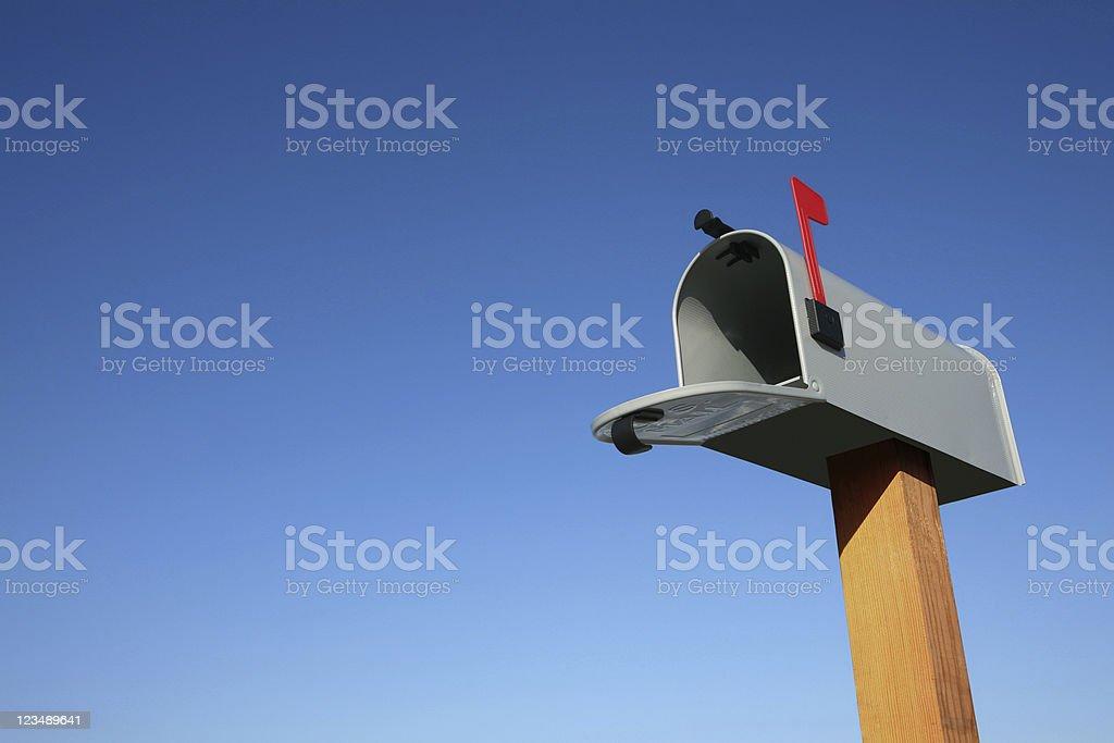 open mailbox stock photo