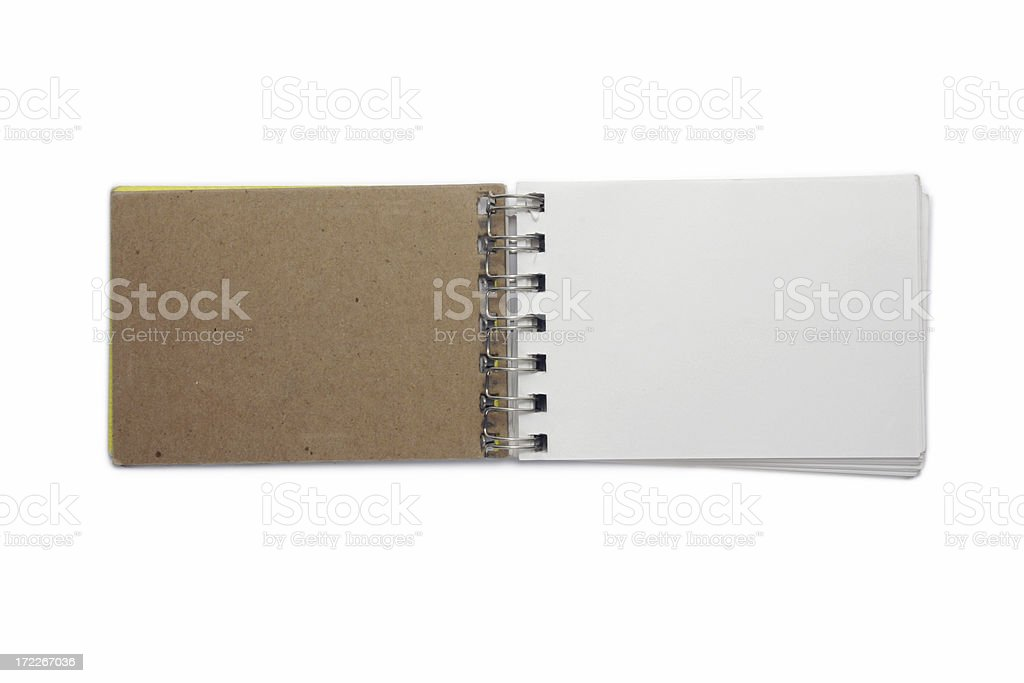 Open Me and Write On royalty-free stock photo