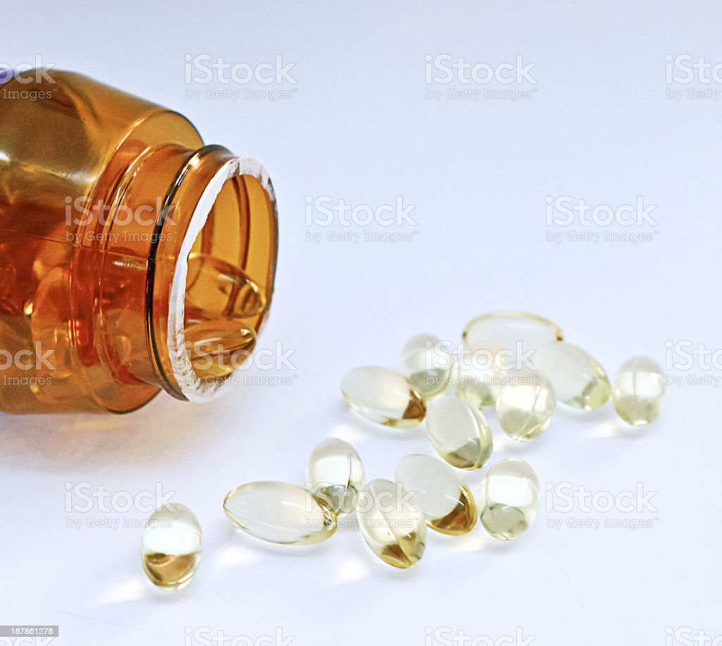 open medication vial royalty-free stock photo